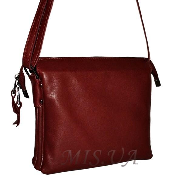 Женская кожаная сумка 2486 бордовая