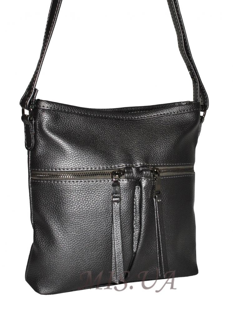 Женская сумка 35609 темно-серебристая