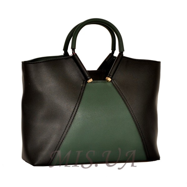 Women's bag 35601 black with green