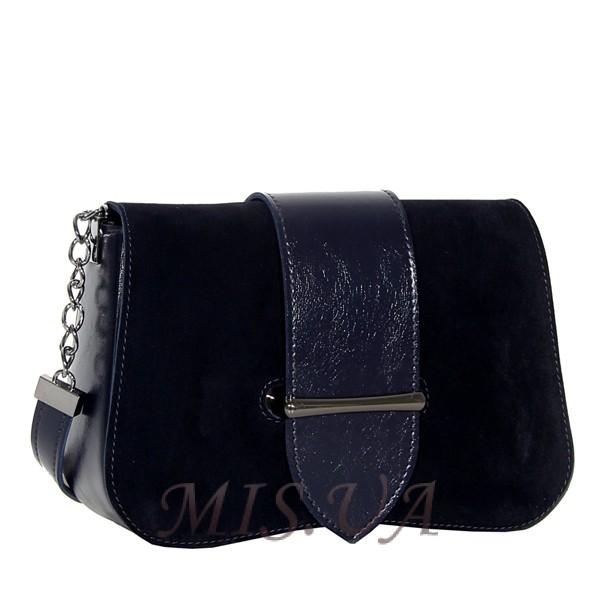 Женская замшевая сумка MIC 0708 синяя