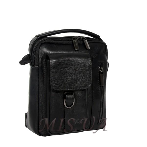 Мужская кожаная сумка Vesson 4584 черная