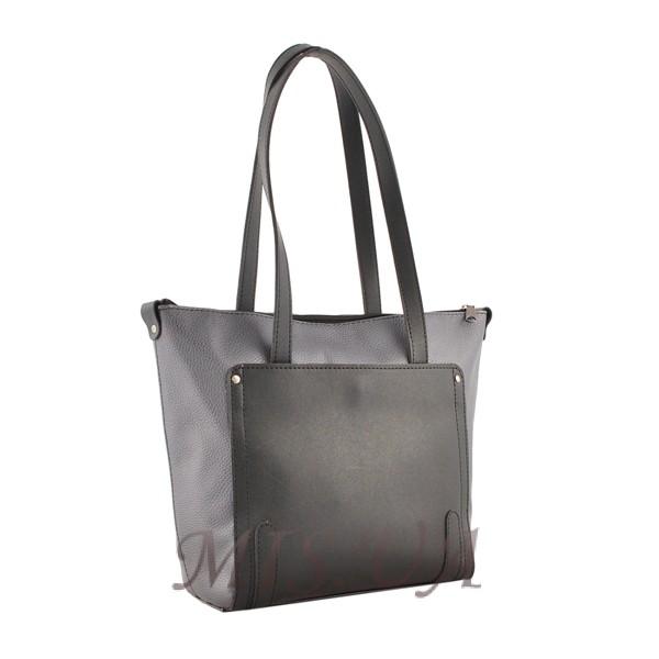 Жіноча сумка МІС 35674 сіра - комбінована