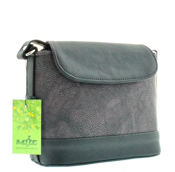 Женская сумка 35346 черная с фиолетовым