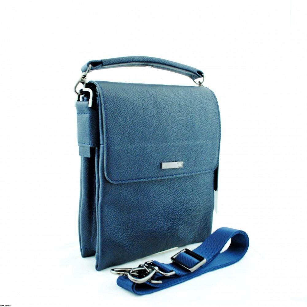 Мужская кожаная сумка 4212 синяя
