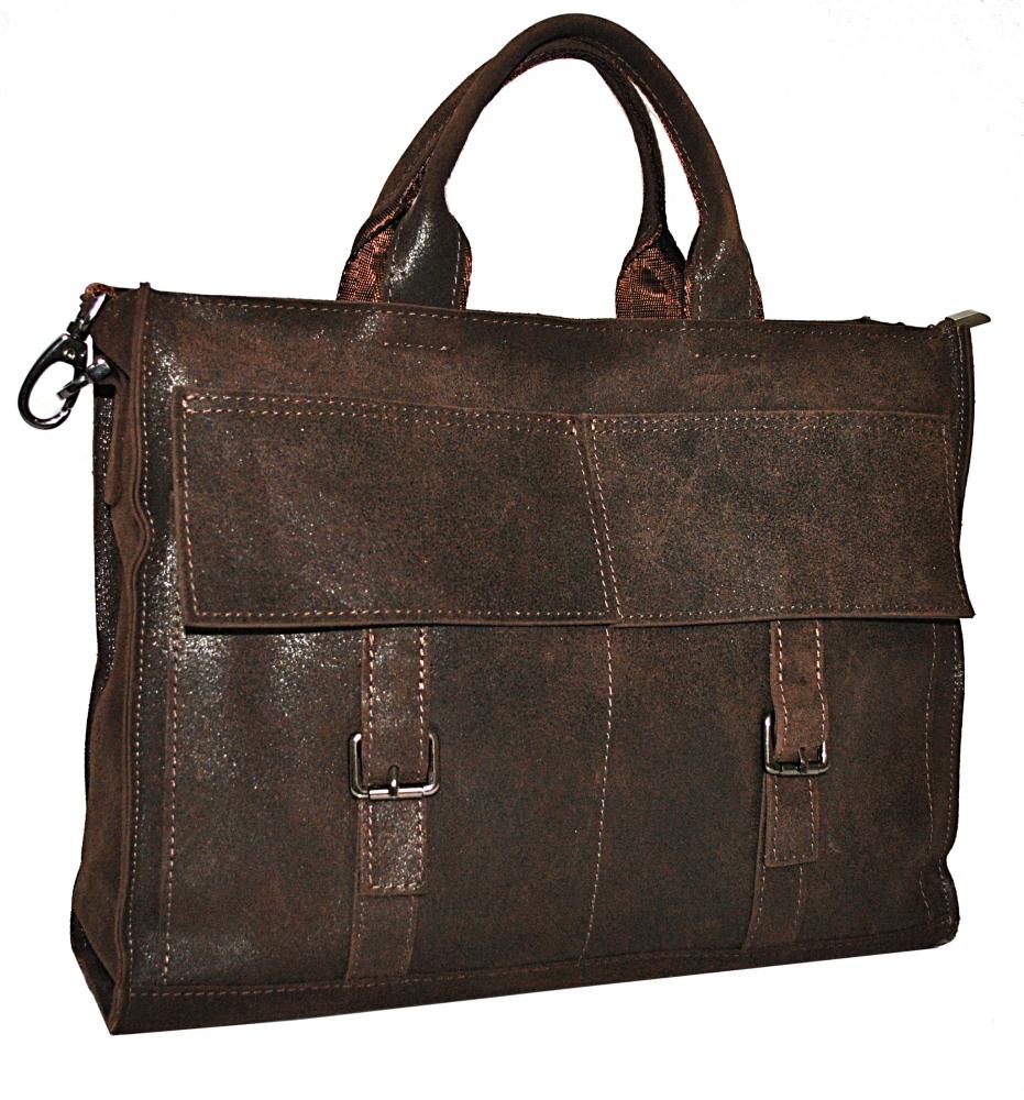 Мужской кожаный портфель 4252 коричневый