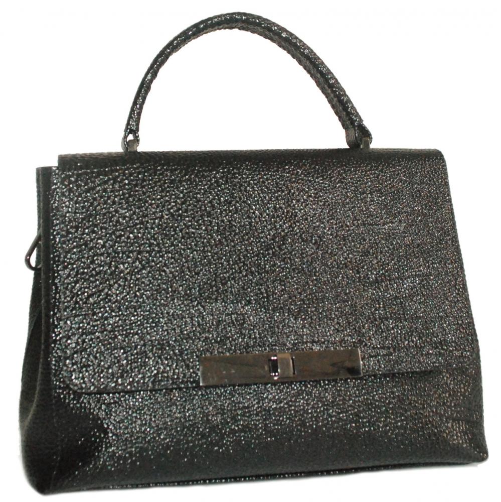 Женская сумка 2527 черная з тиснением