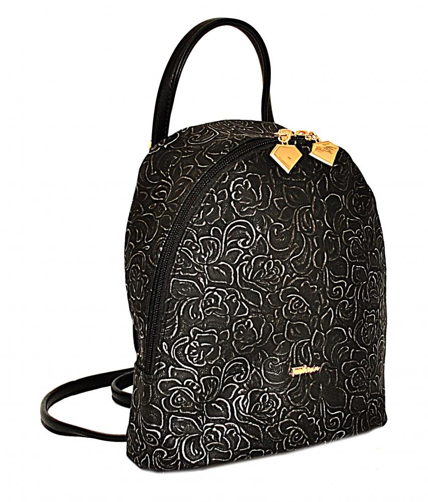 Женский рюкзак 35411 черный  с принтом