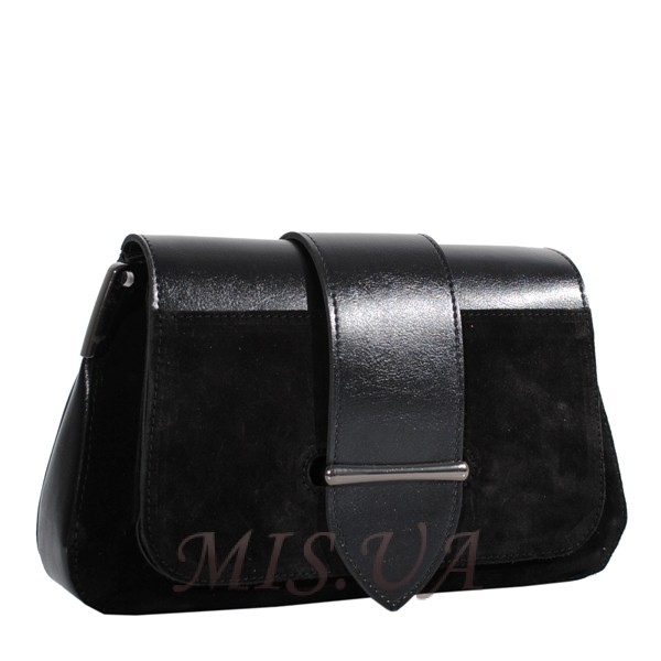 Женская замшевая сумка MIC 0707 черная