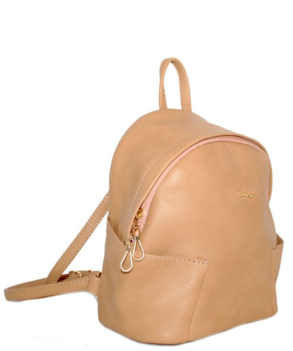 Leather backpack 2517 beige