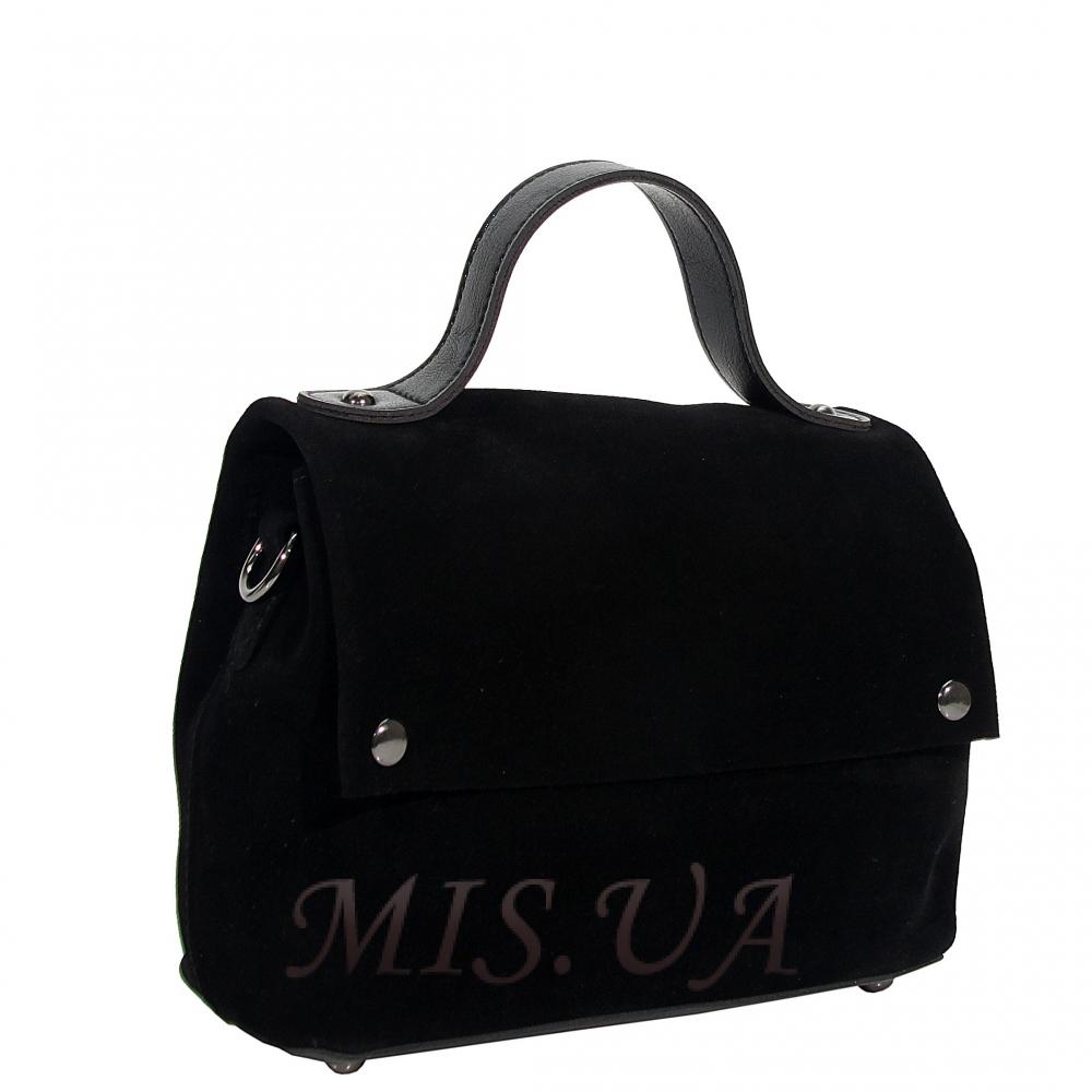 Женская замшевая сумка МІС 0726 черная