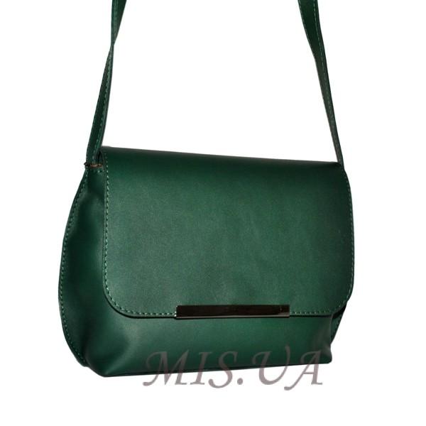 Женская кожаная сумка 2483 зеленая