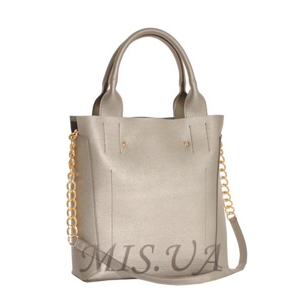 Жіноча сумка 35623 срібна