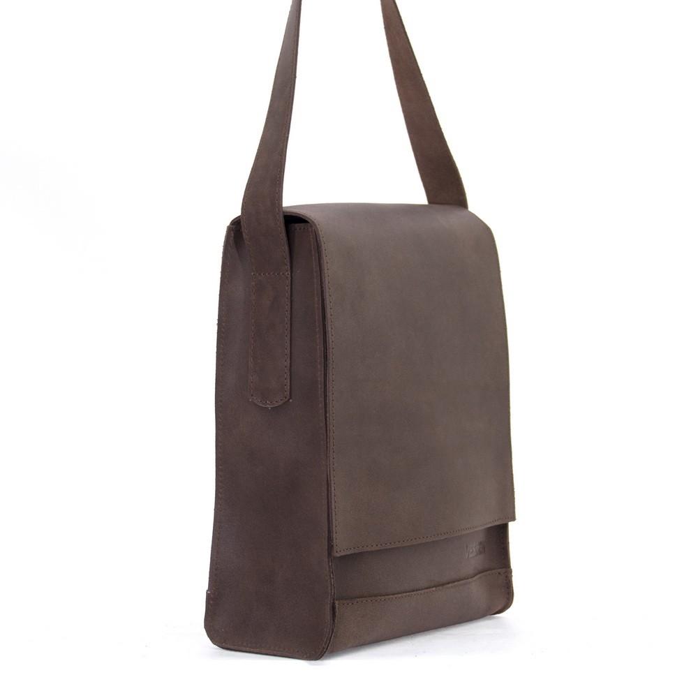 Мужская кожаная сумка 4253 коричневая