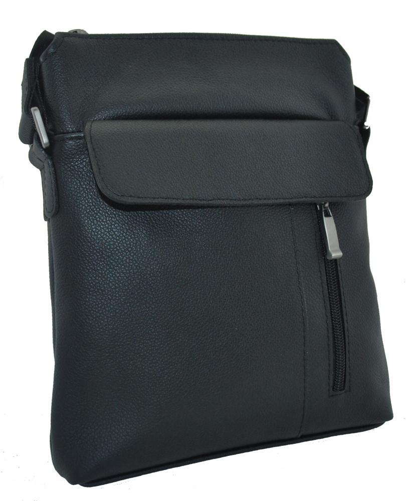 Мужская кожаная сумка 4264 черная