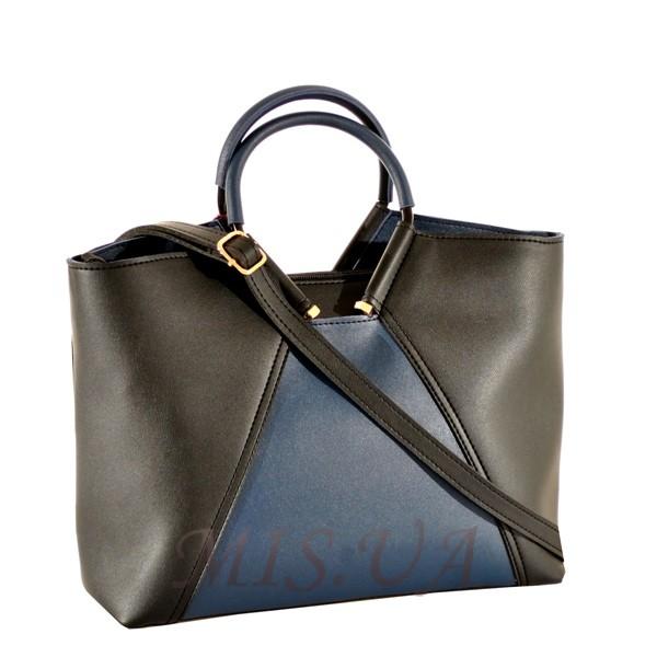 Жіноча сумка 35601 чорна - комбінована