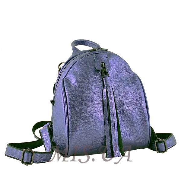 Шкіряний рюкзак МІС 2533  фіолетовий металік