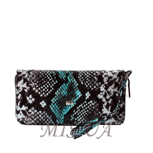 Женский кошелек 171414  зеленый комбинированный