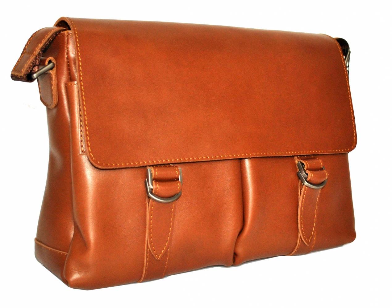 Мужской портфель 4226  рыжий