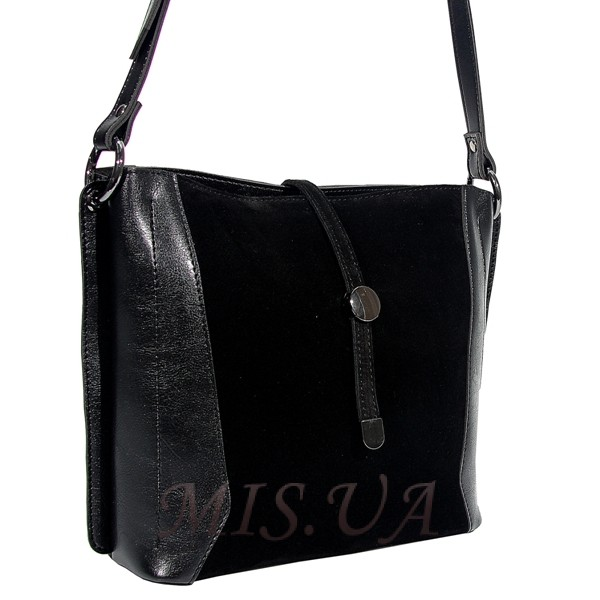Жіноча замшева сумка МІС 0738 чорна