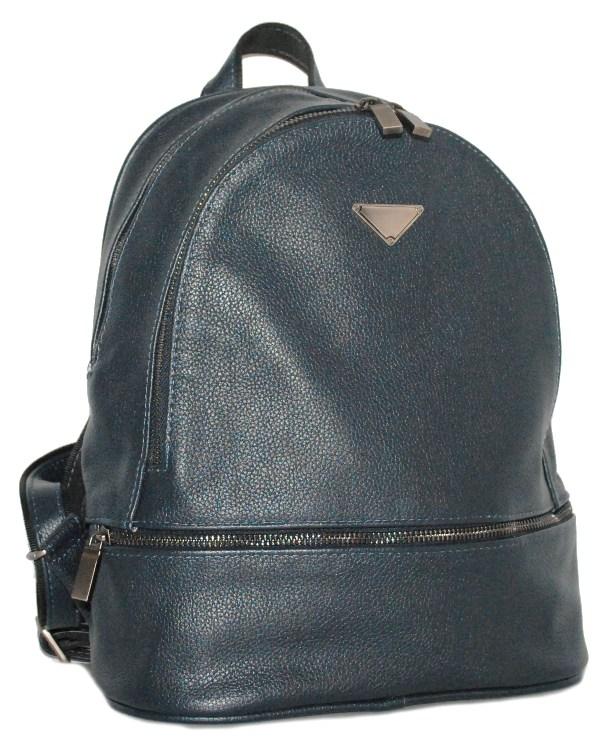 Кожаный рюкзак 4342 темно-синий