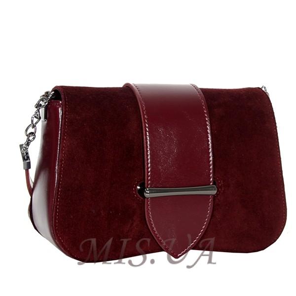Женская замшевая сумка MIC 0708 марсала