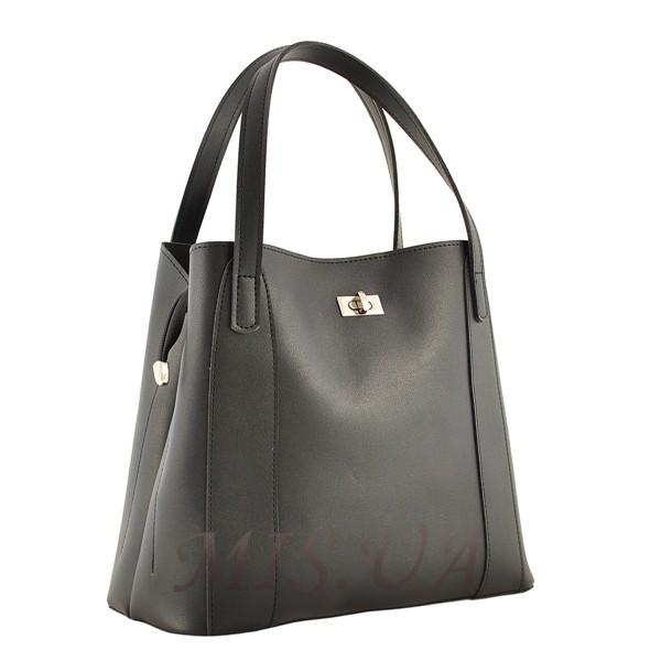 Женская сумка МІС 35694 черная-матовая