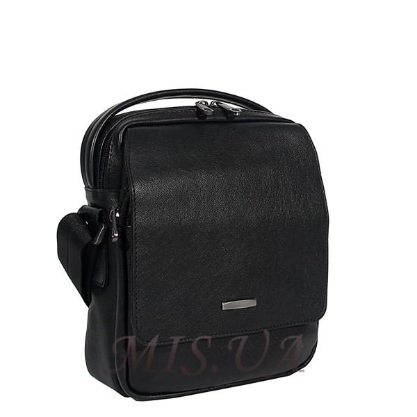Мужская кожаная сумка Vesson 4606 черная