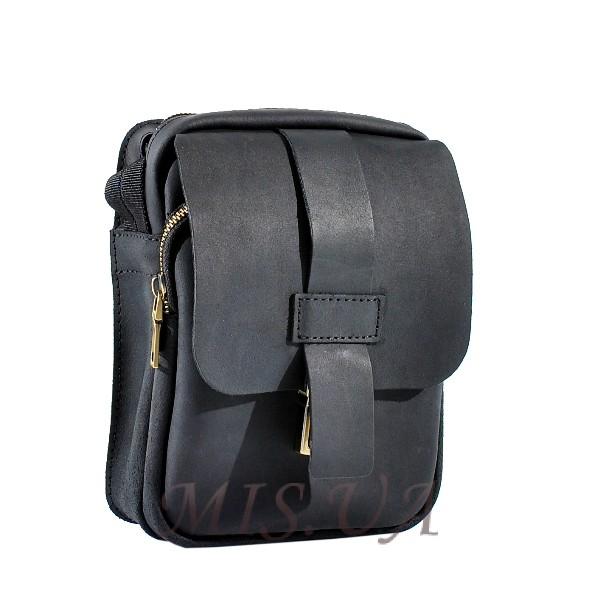 Мужская кожаная сумка Vesson 4563 черная