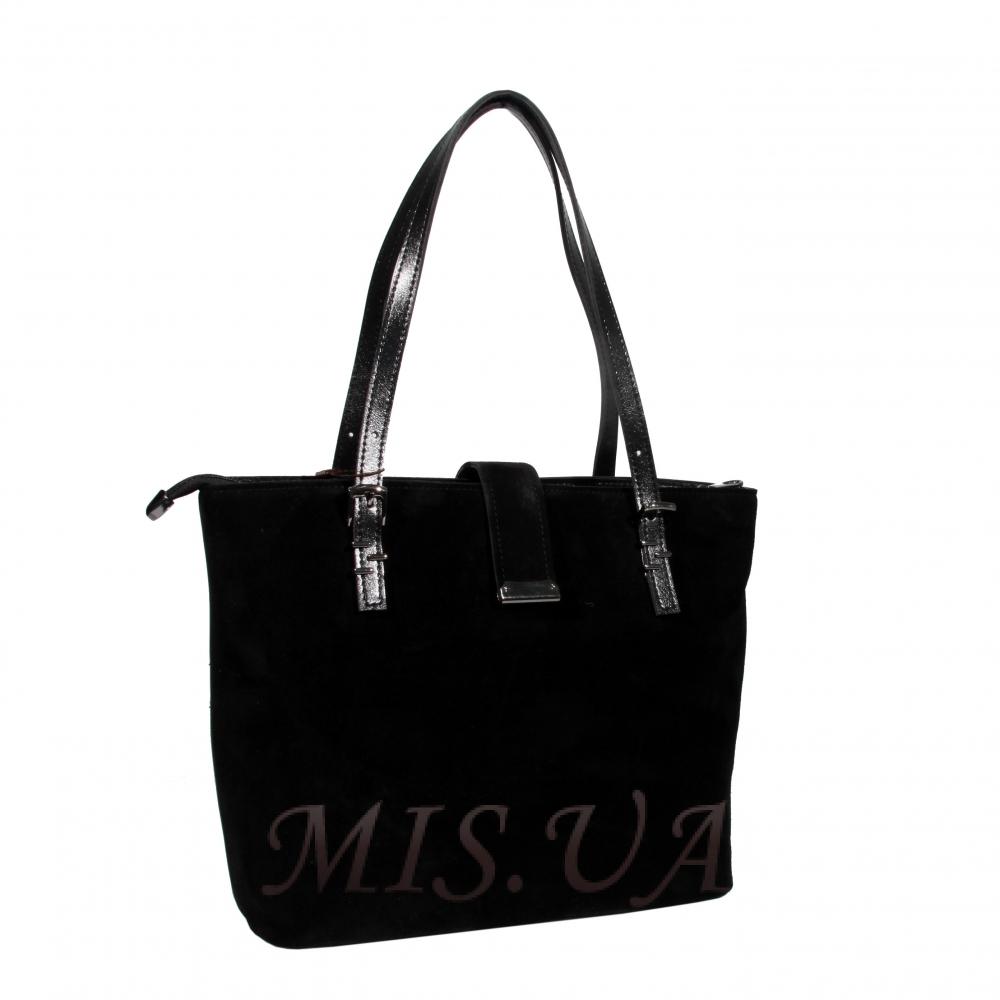 Женская замшевая сумка MIC 0716 черная