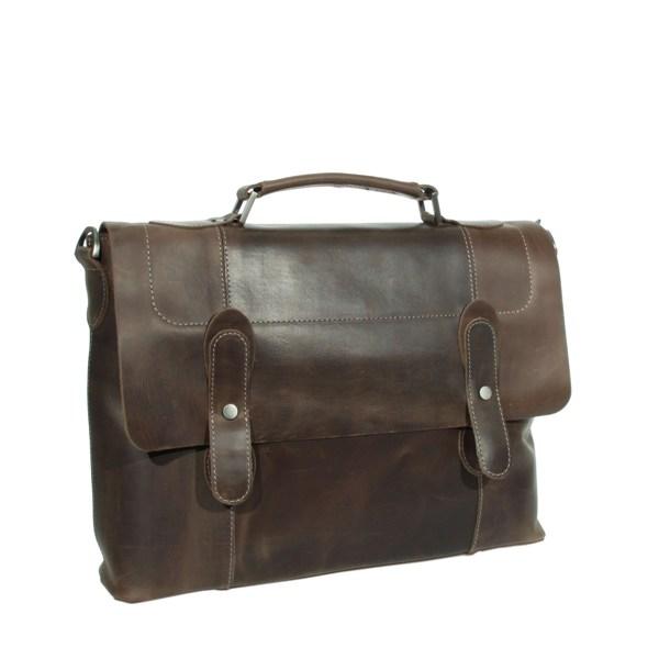 Мужской кожаный портфель Vesson 4635 коричневый