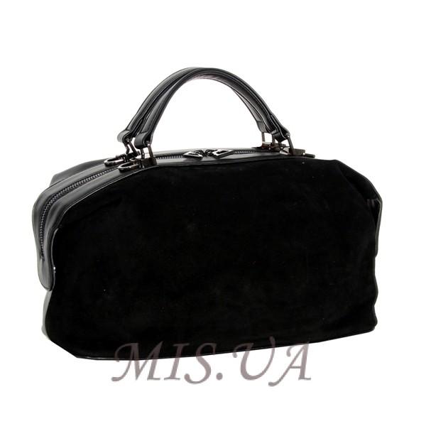 Жіноча замшева сумка МІС 0697 чорна