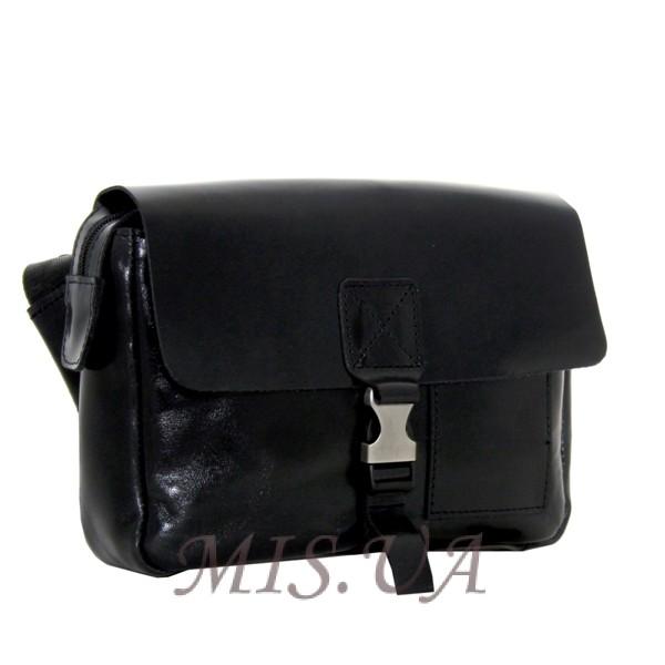 Мужская кожаная сумка Vesson 4583  черная