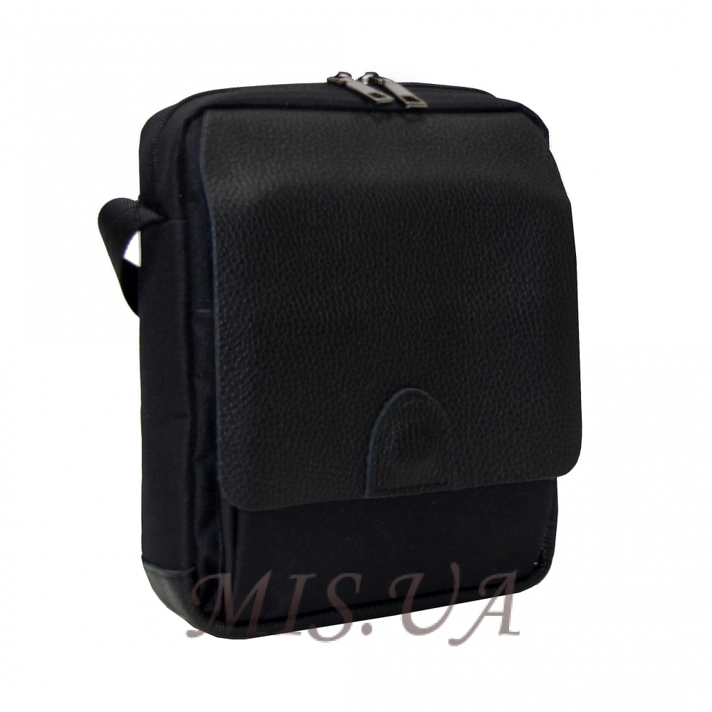 Men's leather bag 0435 is black