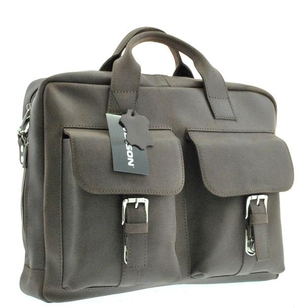 Мужской кожаный портфель 4297 коричневый
