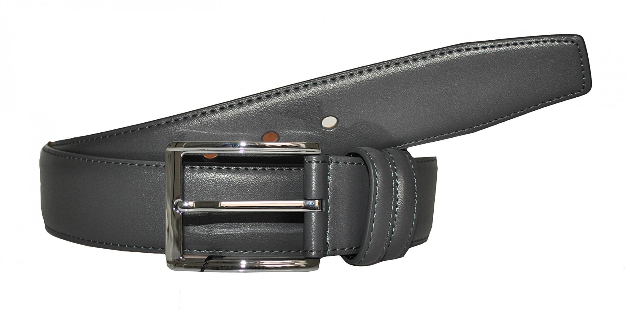 Мужской ремень 16670 темно-серый