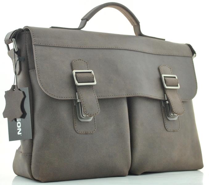 Мужской кожаный портфель 4227 коричневый