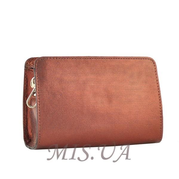 Женская кожаная сумочка МІС 2435 бордовый металик
