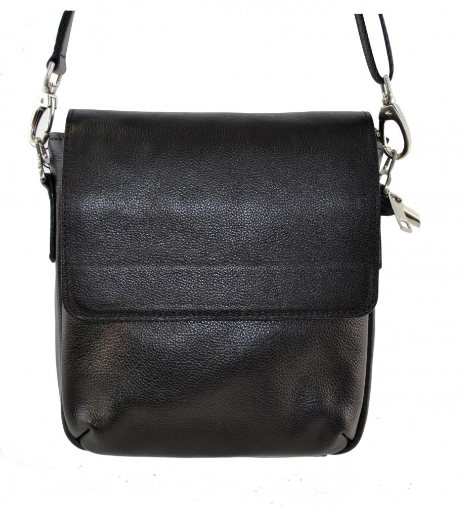 Мужская сумка из натуральной кожи Vesson 4103 черная