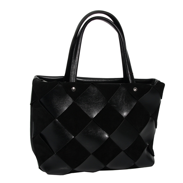 Женская замшевая сумка MIC 0734 черная