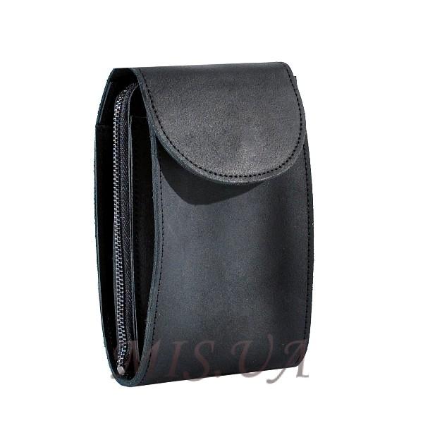 Мужская кожаная сумка Vesson 4555 черная