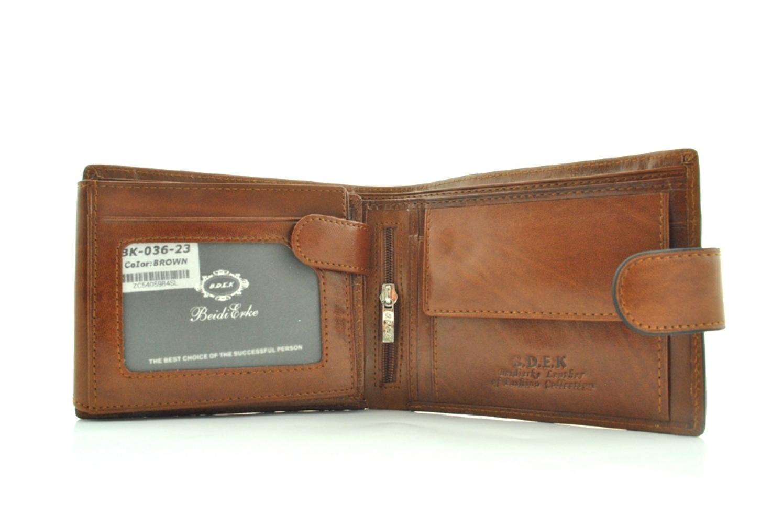 Мужской кошелек 17436 коричневый
