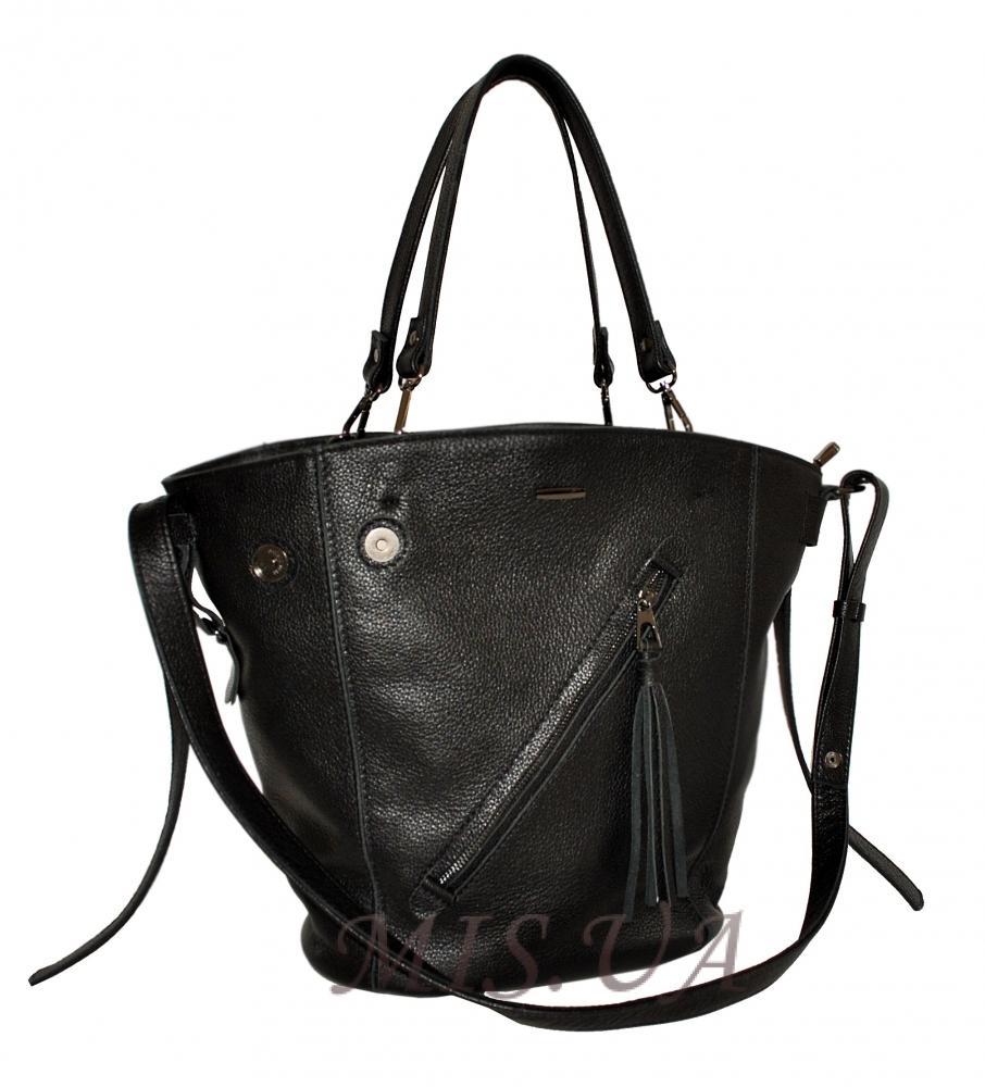 Женская кожаная сумка 2530 черная