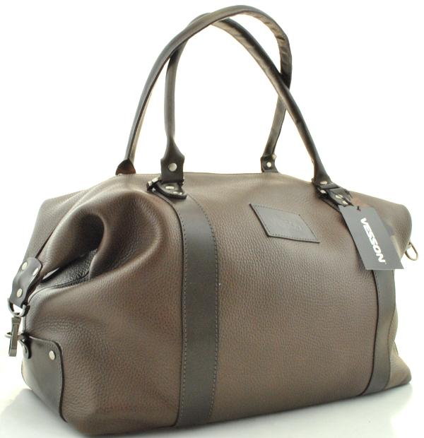 Мужская кожаная сумка 4307 коричневая