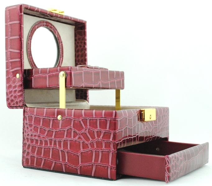 Шкатулка для украшений 1874 бордовая