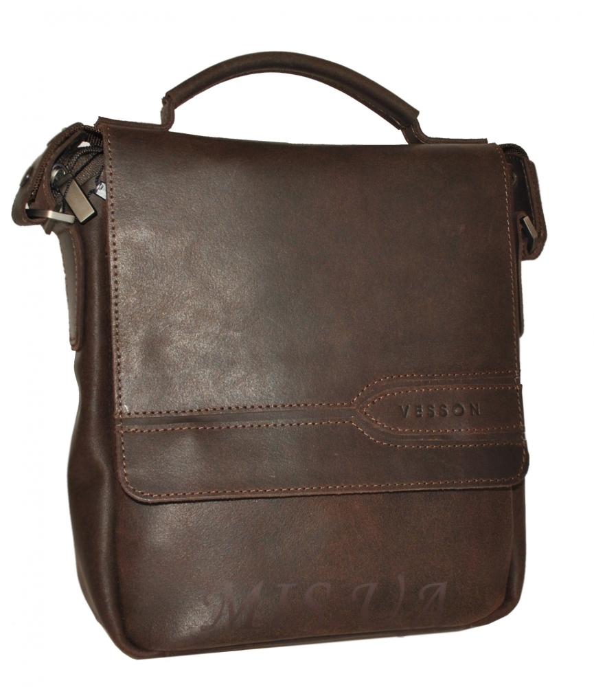 Мужская кожаная сумка 4508 коричневая