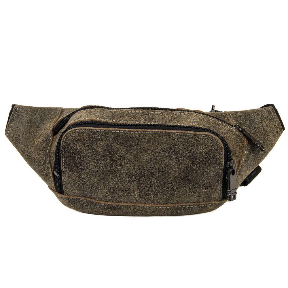 Мужская кожаная сумка 4276 хаки