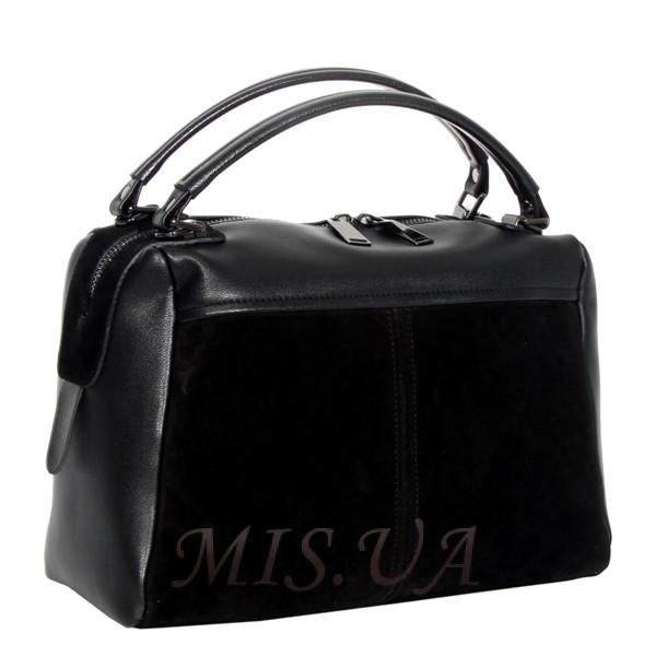 Жіноча замшева сумка MIC 0719 чорна