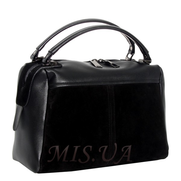 Женская замшевая сумка MIC 0719 черная