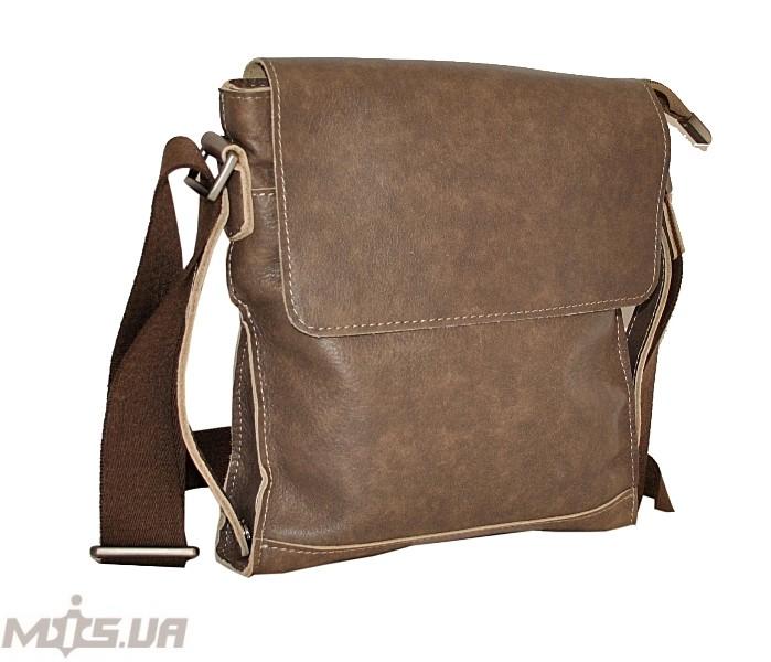 Мужская кожаная сумка 4259 хаки