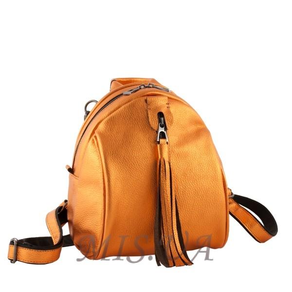 Кожаный городской рюкзак МІС 2533 темное золото